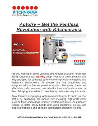 Autofry âu0026#x20AC;u0026#x201C; Get The Ventless Revolution With Kitchenrama