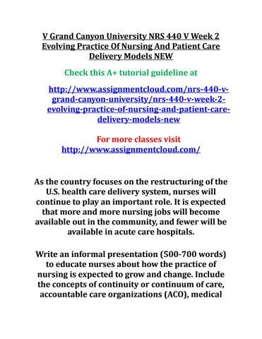 EVOLVING PRACTICE OF NURSING