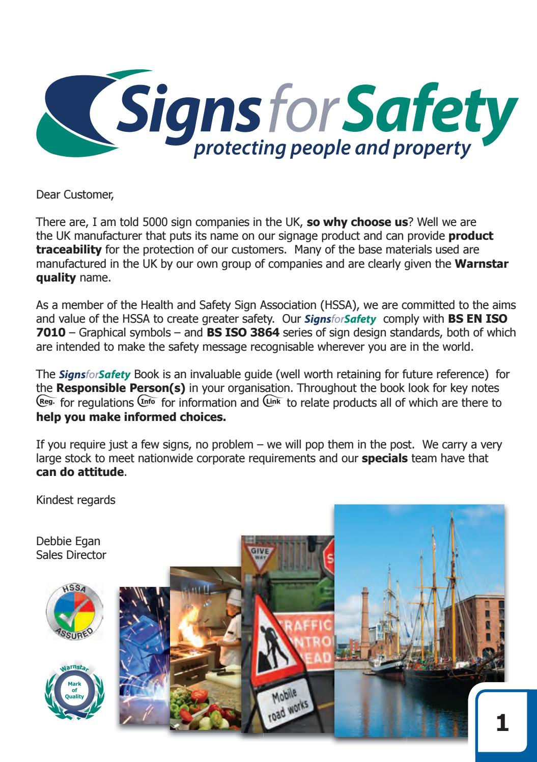 Signs For Safety Brochure By Warnstar Issuu