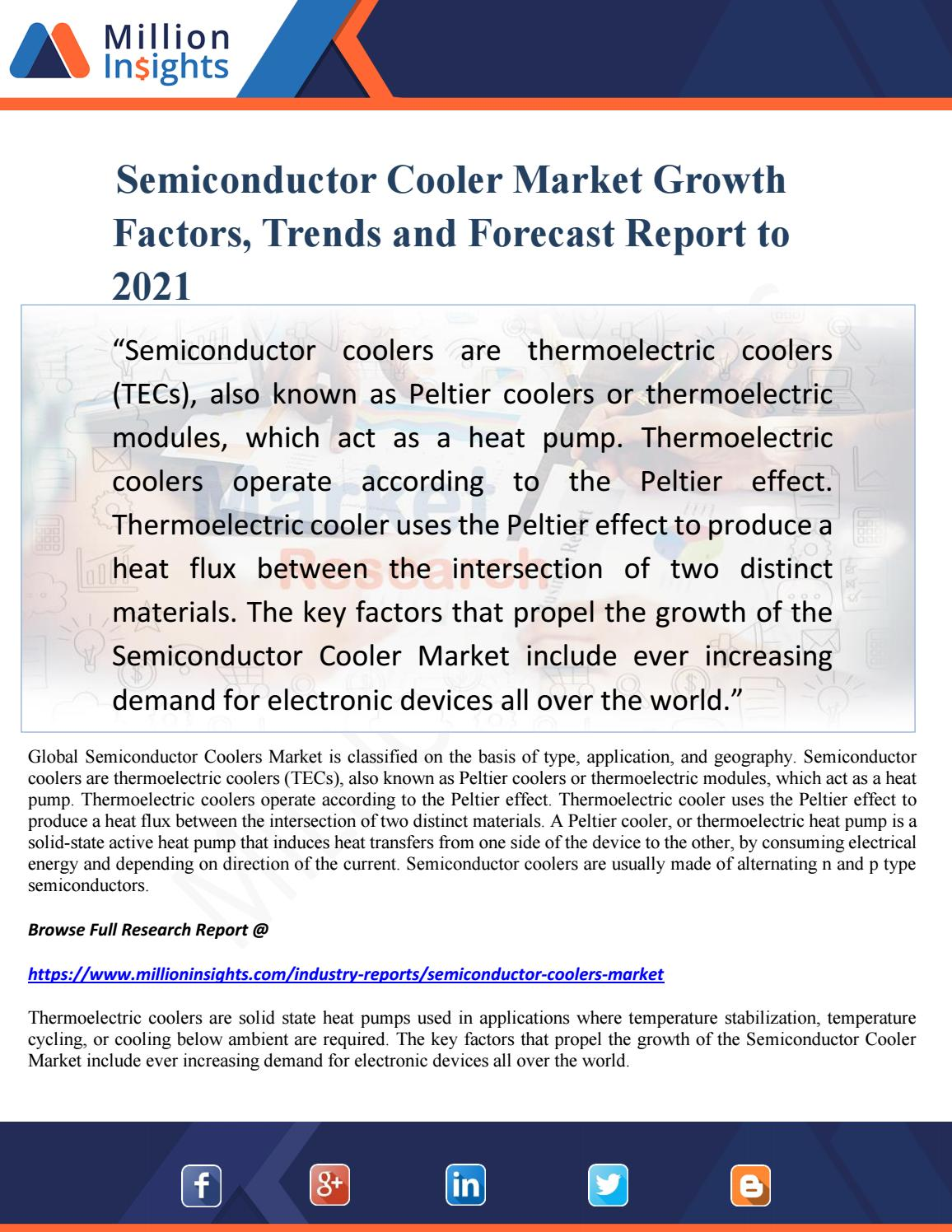 Semiconductor cooler market growth factors, trends and forecast