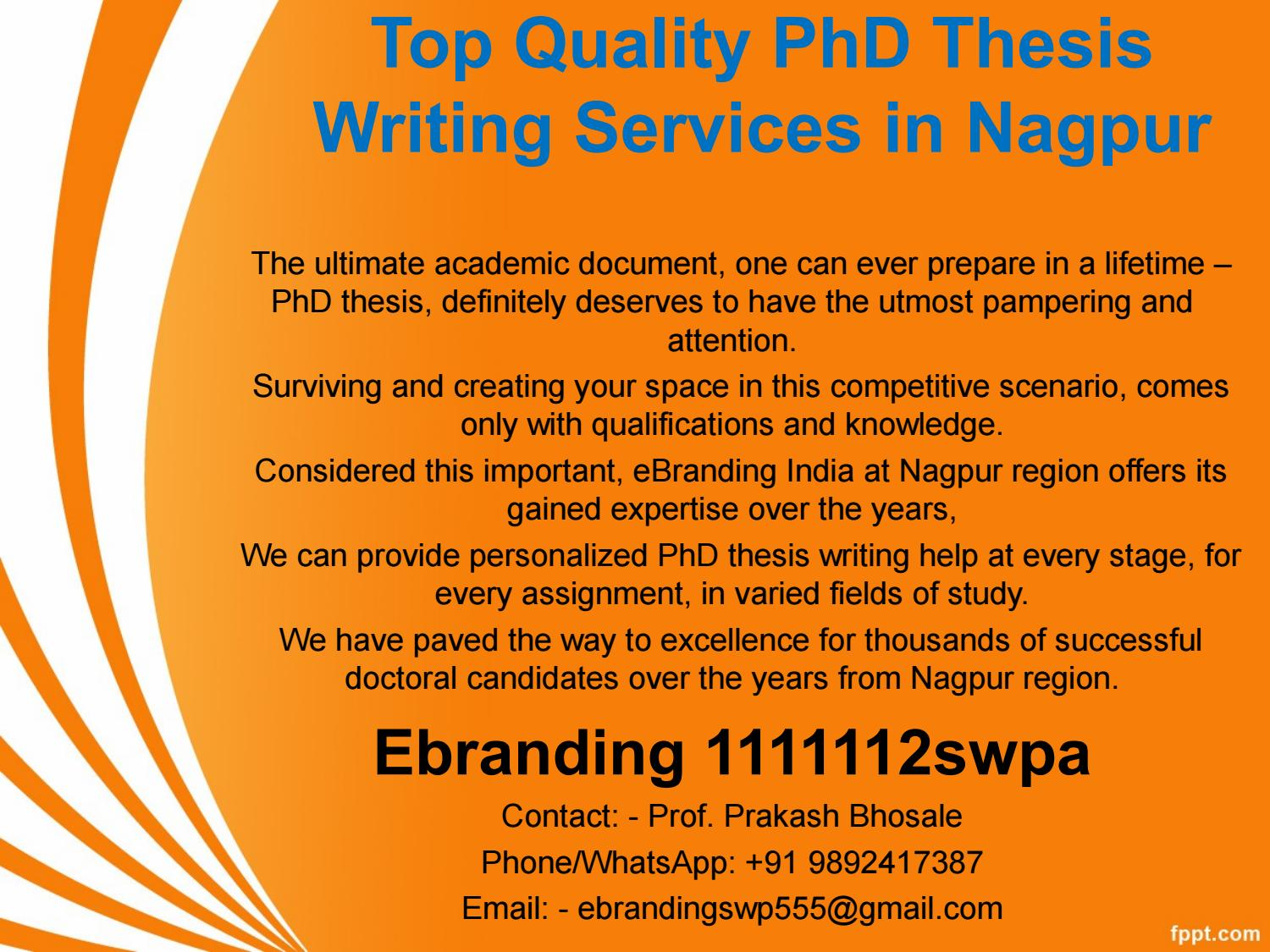 Quality Management PhD Thesis Topic Help