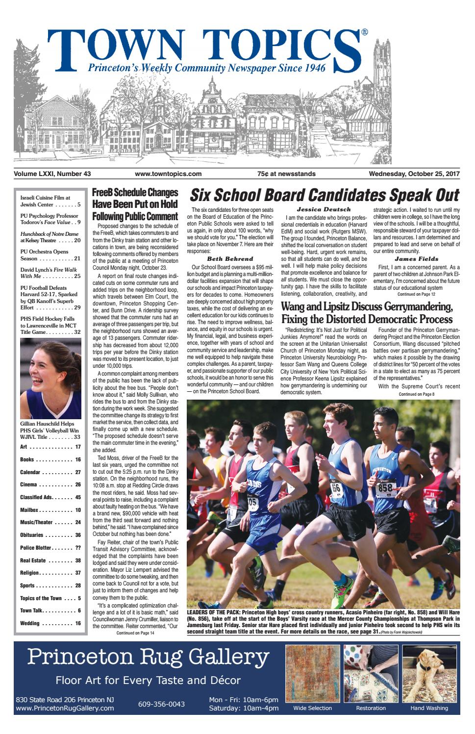 Town Topics Newspaper October 25, 2017 by Witherspoon Media Group - issuu