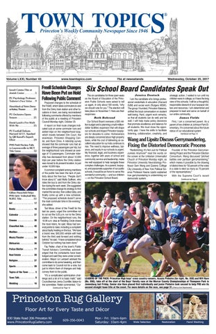 Town Topics Newspaper October 25 2017 By Witherspoon Media Group