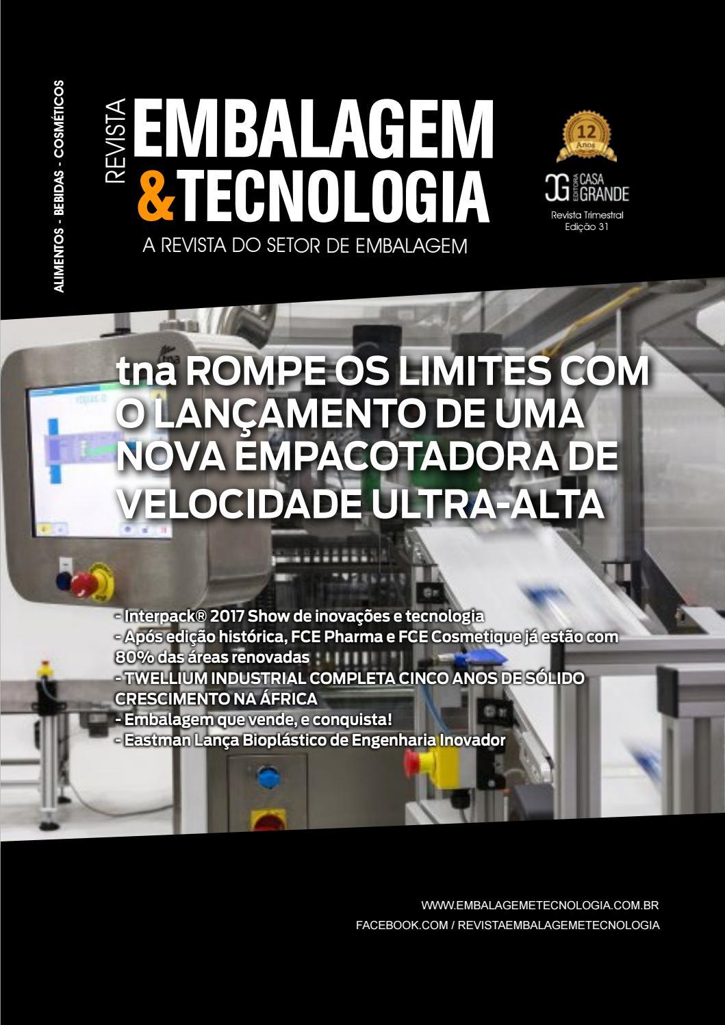 5916cffb7 Embalagem & Tecnologia - Nº31 by Casa Grande - issuu