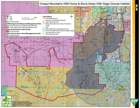 Onaqui Mountains Wild Horse & Burro Areas With Sage-Grouse Habitat ...