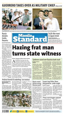 Manila Standard - 2017 October 26 - Thursday