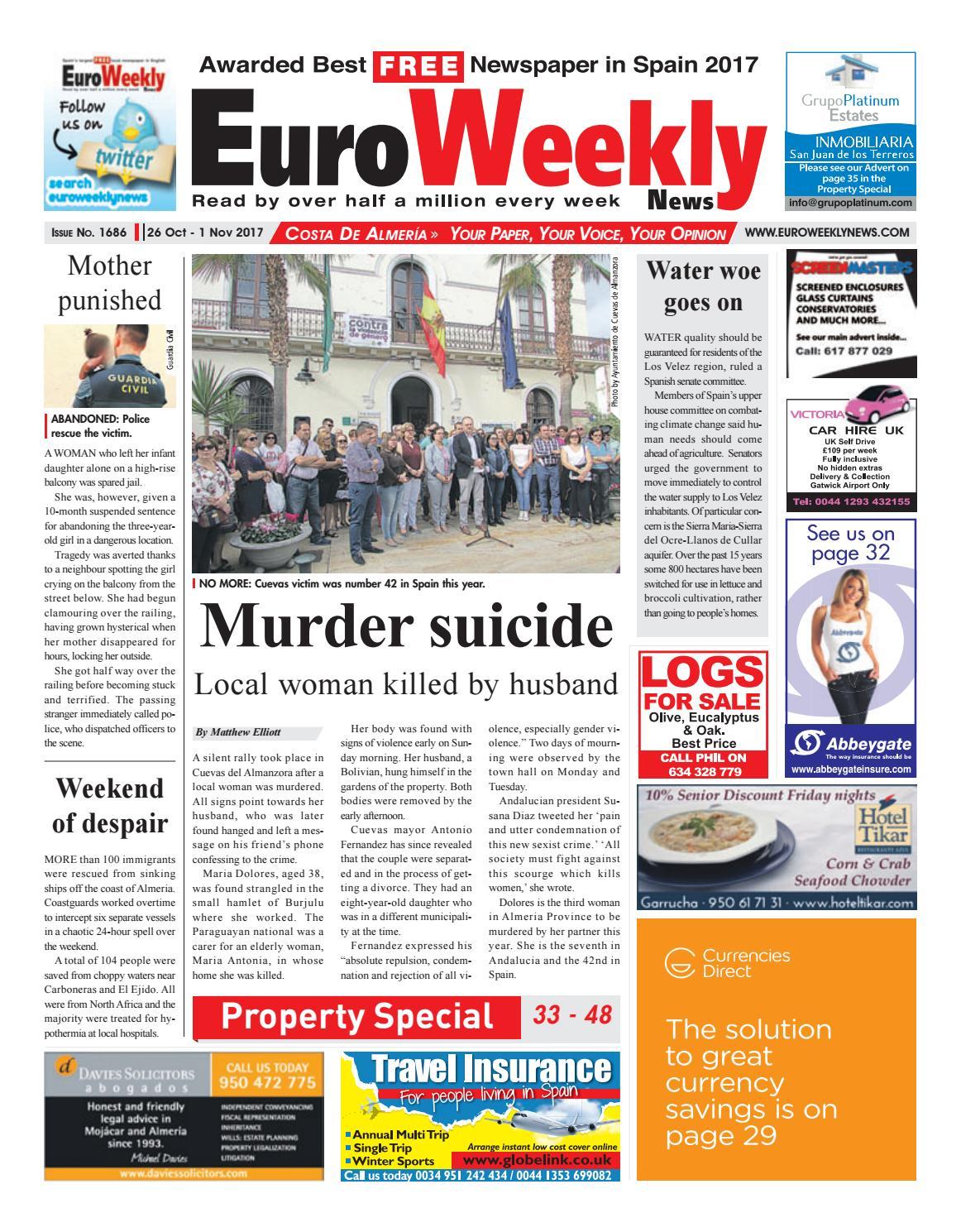 Euro Weekly News Costa De Almeria 26 October 1 November