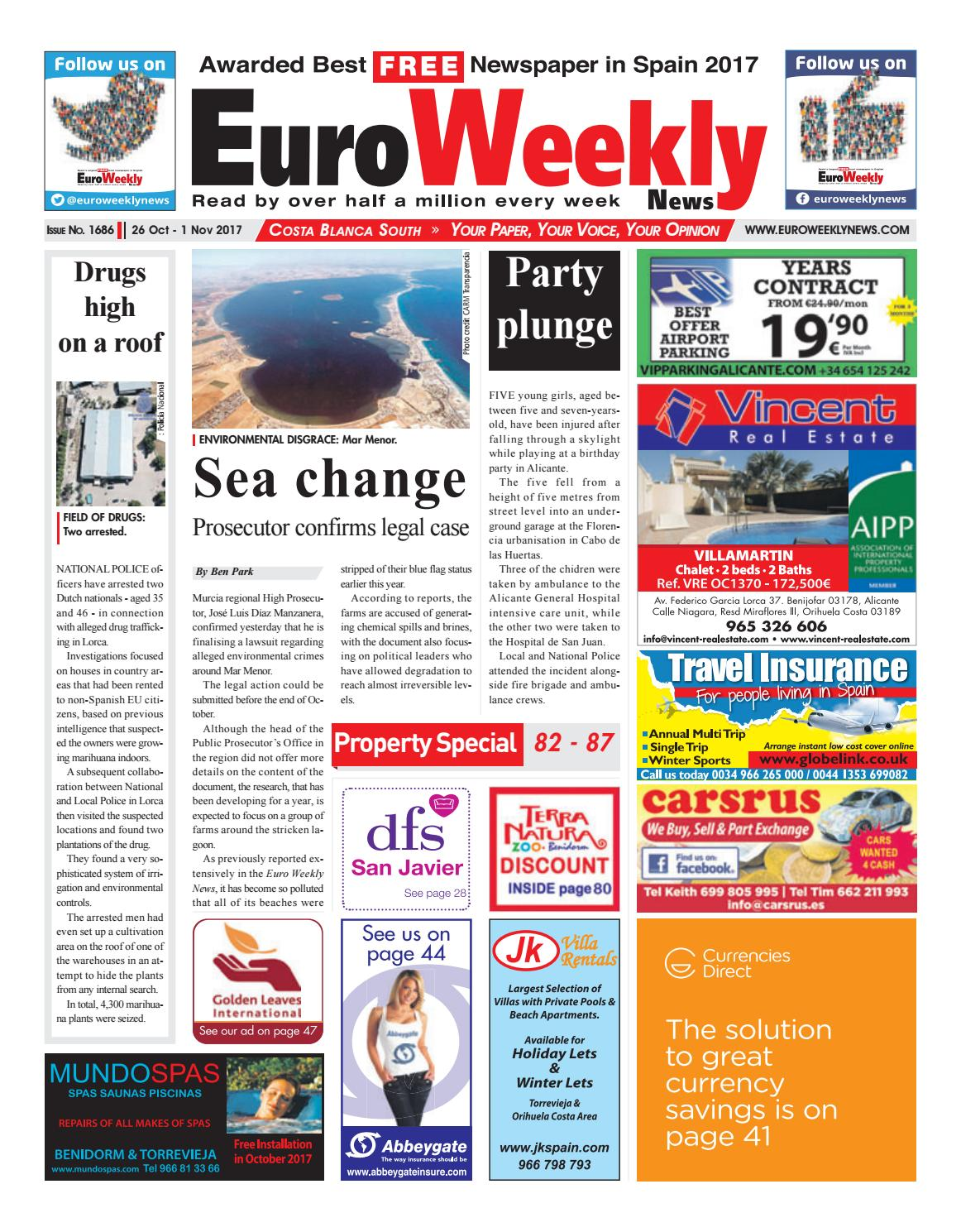 Euro Weekly News - Costa Blanca South 26 October – 1