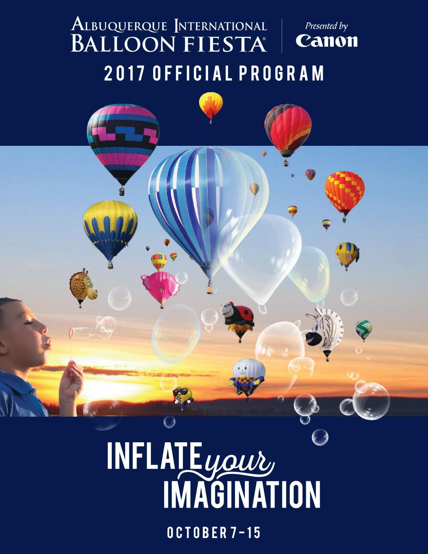 Official 2017 Albuquerque International Balloon Fiesta Program By Albuquerque International Balloon Fiesta Issuu