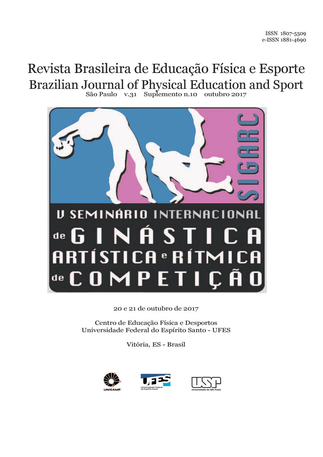 6619987bce V Seminário Internacional de Ginástica Artística e Rítmica de Competição -  SIGARC by Revista Brasileira de Educação Física e Esporte - issuu