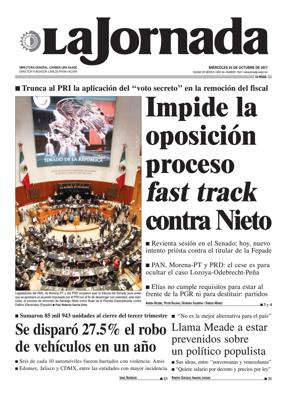 La Jornada, 10/25/2017 by La Jornada: DEMOS Desarrollo de Medios ...