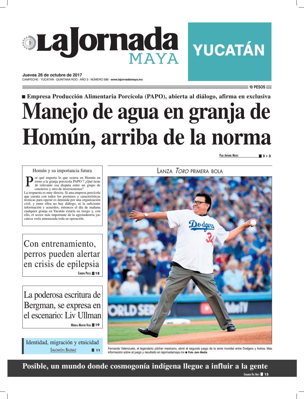 La jornada maya · Jueves 26 de octubre de 2017 by La Jornada Maya ...