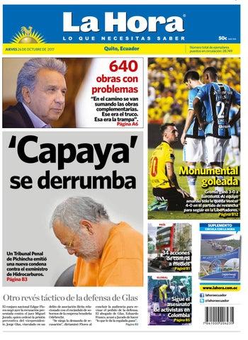 Quito 26 de octubre de 2017 by Diario La Hora Ecuador - issuu ae181f0b4bc