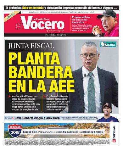 c59f36eeb El periódico líder en lectoría y circulación impresa promedio de lunes a  viernes  P24 EL VOCERO DE PUERTO RICO  JUEVES