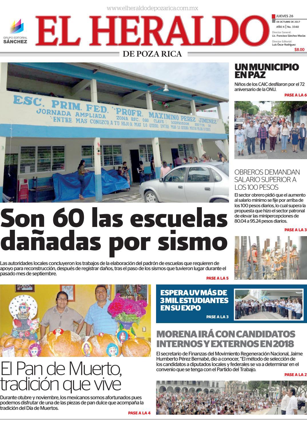 00eb406b614 El Heraldo de Poza Rica 26 de Octubre de 2017 by Fernando Carmona - issuu