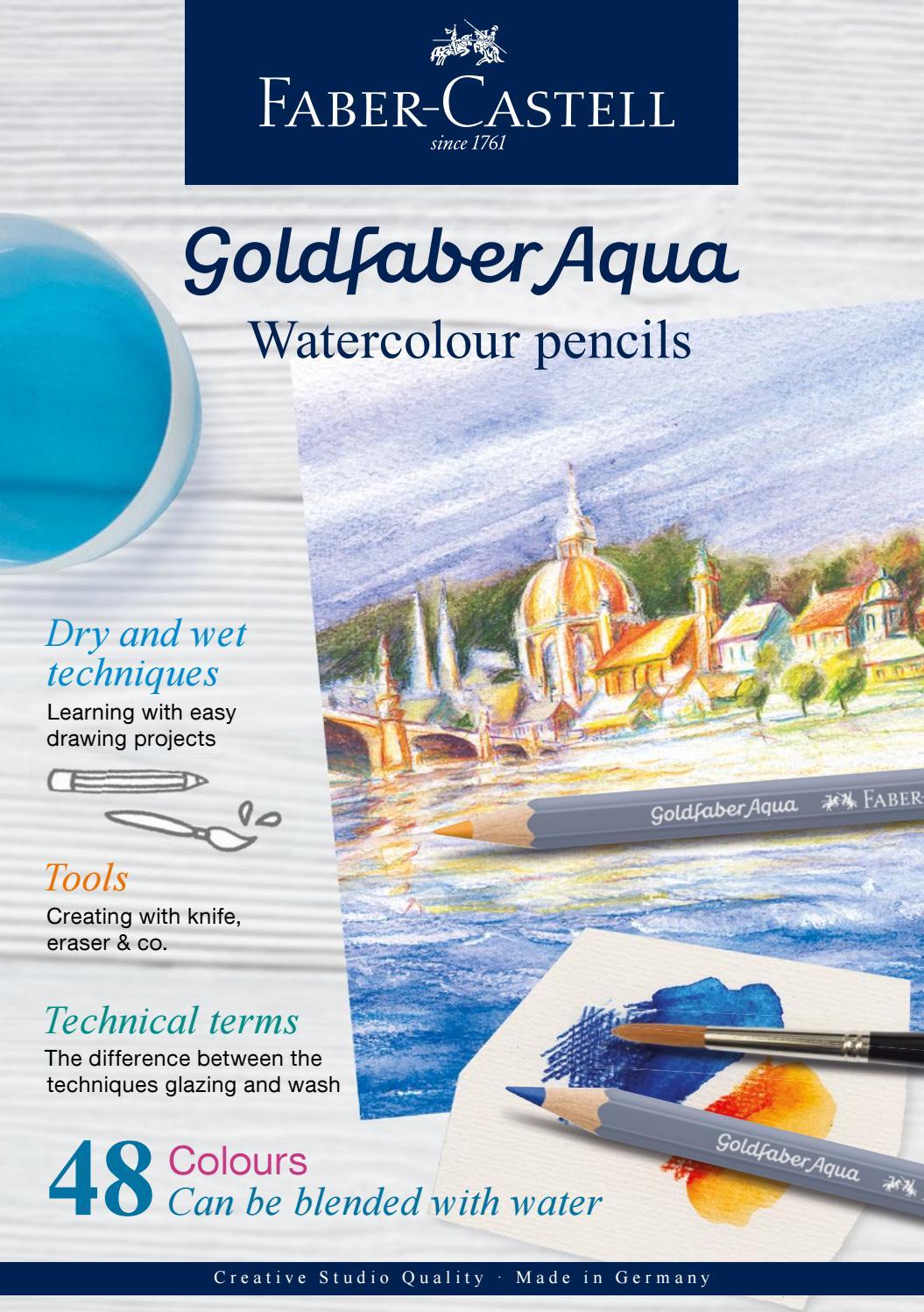 Faber-Castell Goldfaber Aqua Watercolour Pencil Emerald Green 163