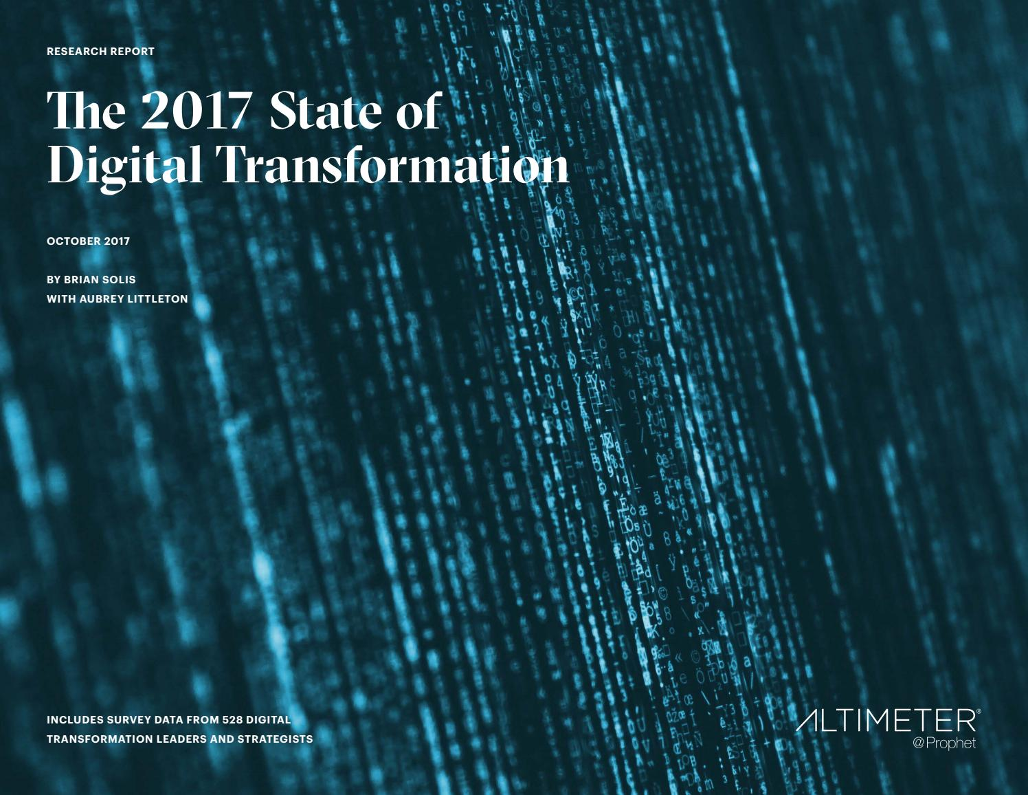 the 2017 state of digital transformation by brian solis by