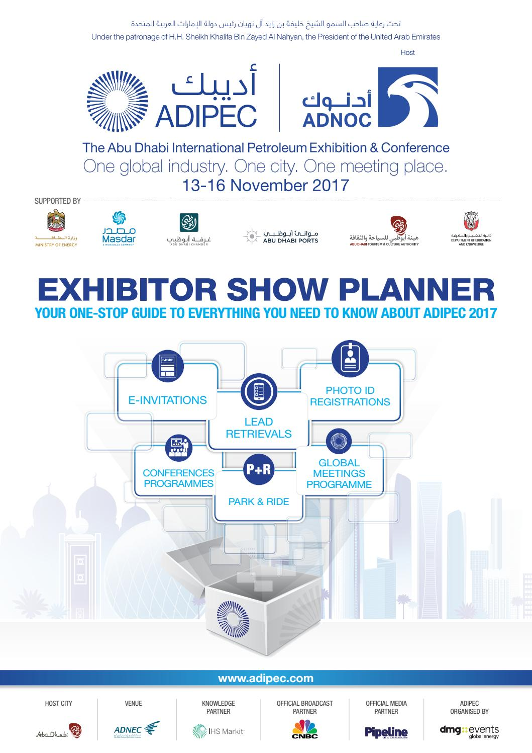Adipec Exhibitor Show Planner 2017 V7 28 Pages D15a105d 1e05 4e0f 9c89 2fb3cbcd7864 By Adipec Issuu