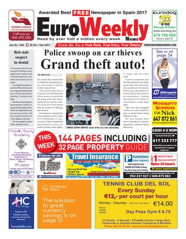 61f36bec5 Euro Weekly News - Costa del Sol 26 October – 1 November 2017 Issue ...