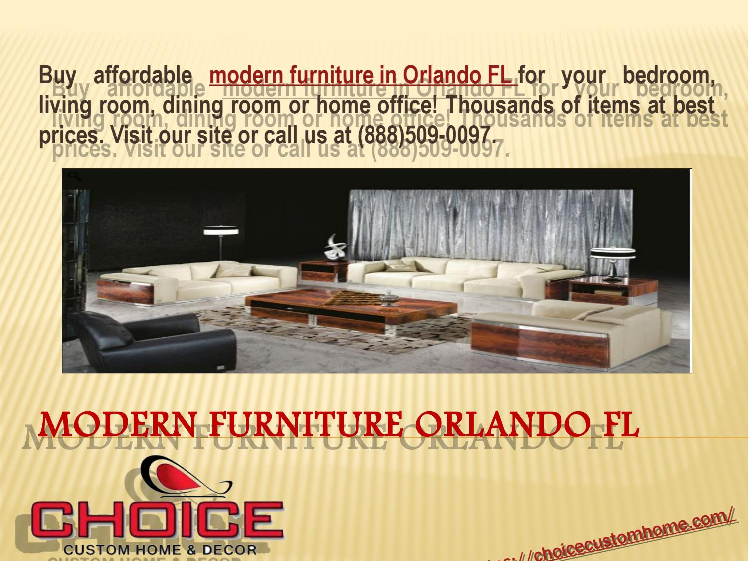 Contemporary Furniture Showroom Fl By Choice Custom Home Issuu