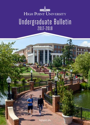 Undergraduate bulletin 2016 2017 by high point university issuu department fandeluxe Images