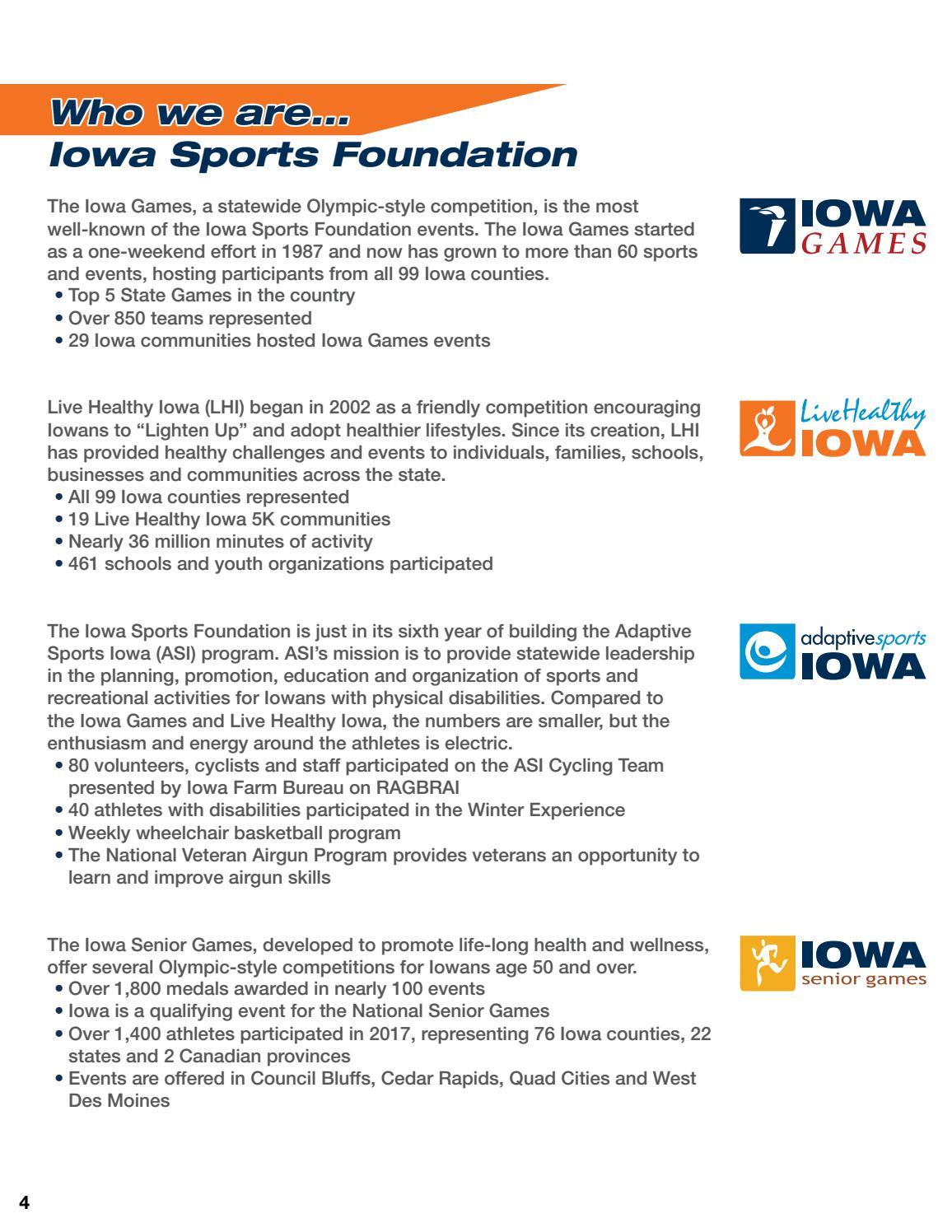 2016-2017 Iowa Sports Foundation Annual Report