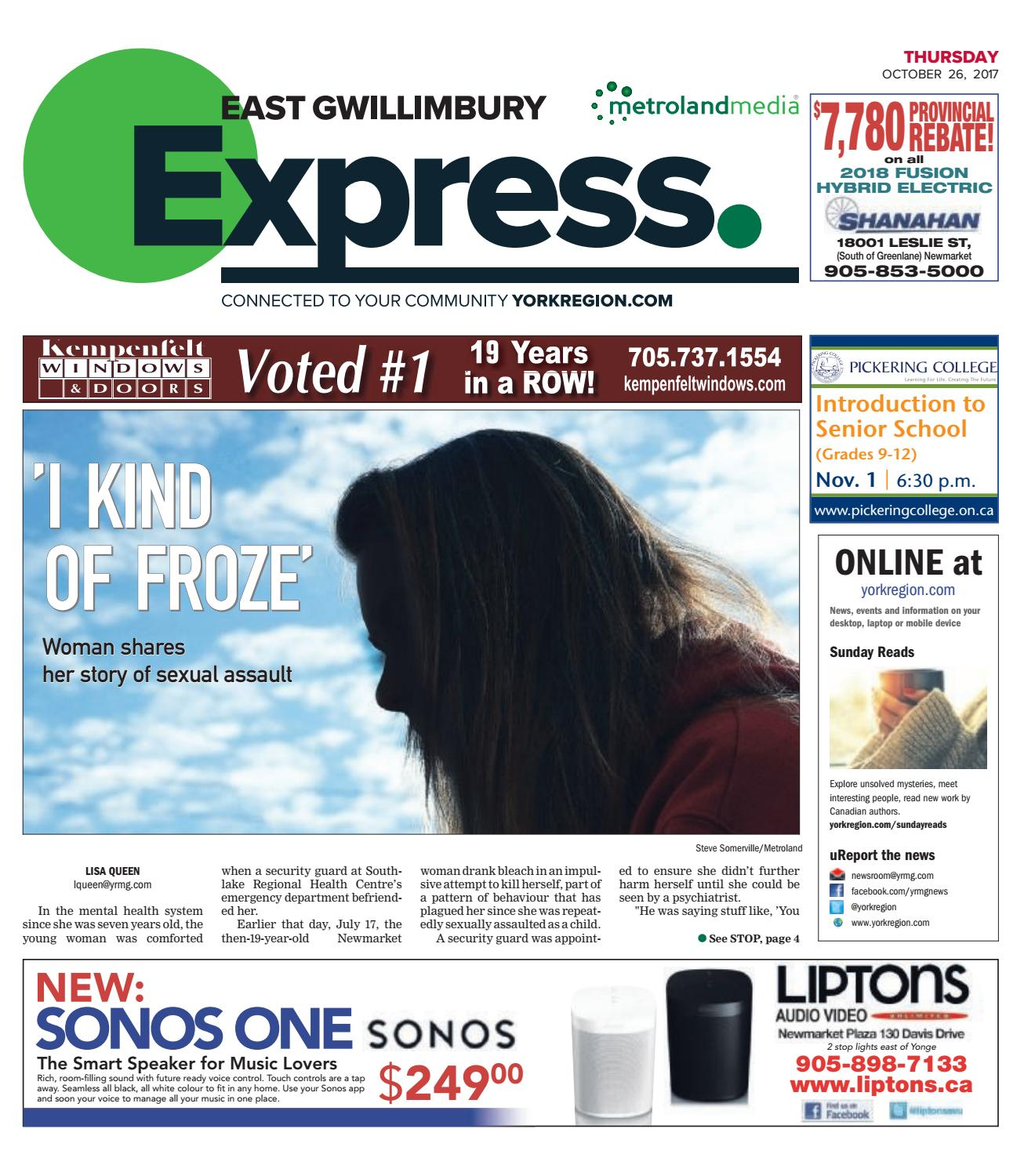 East Gwillimbury Express, October 26, 2017 by East Gwillimbury - issuu