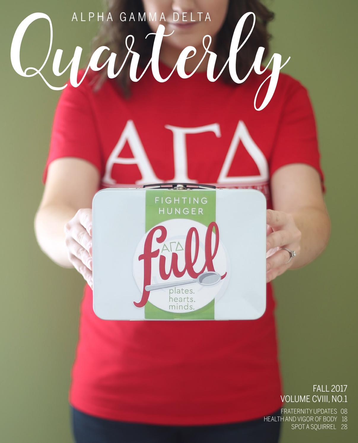 Quarterly Fall 2017 By Alpha Gamma Delta