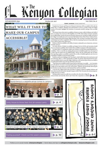 10.26.17 by The Kenyon Collegian issuu