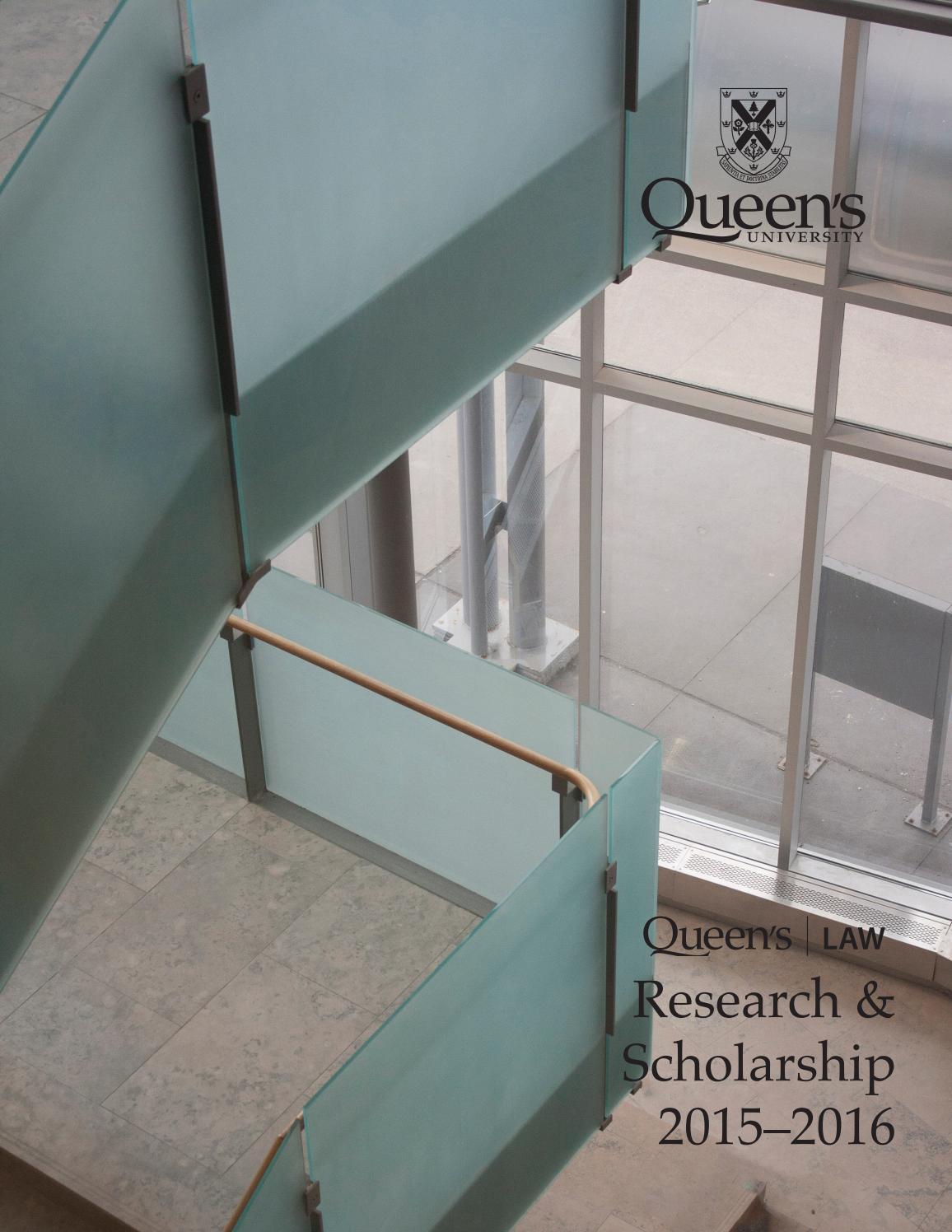 Queen's Law Research Report 2015-16 by Queen's University