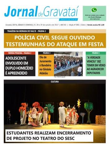 b88912ac4290f Jornal de Gravataí. Sexta a domingo, 27 a 29 de outubro de 2017. Edição  2841.