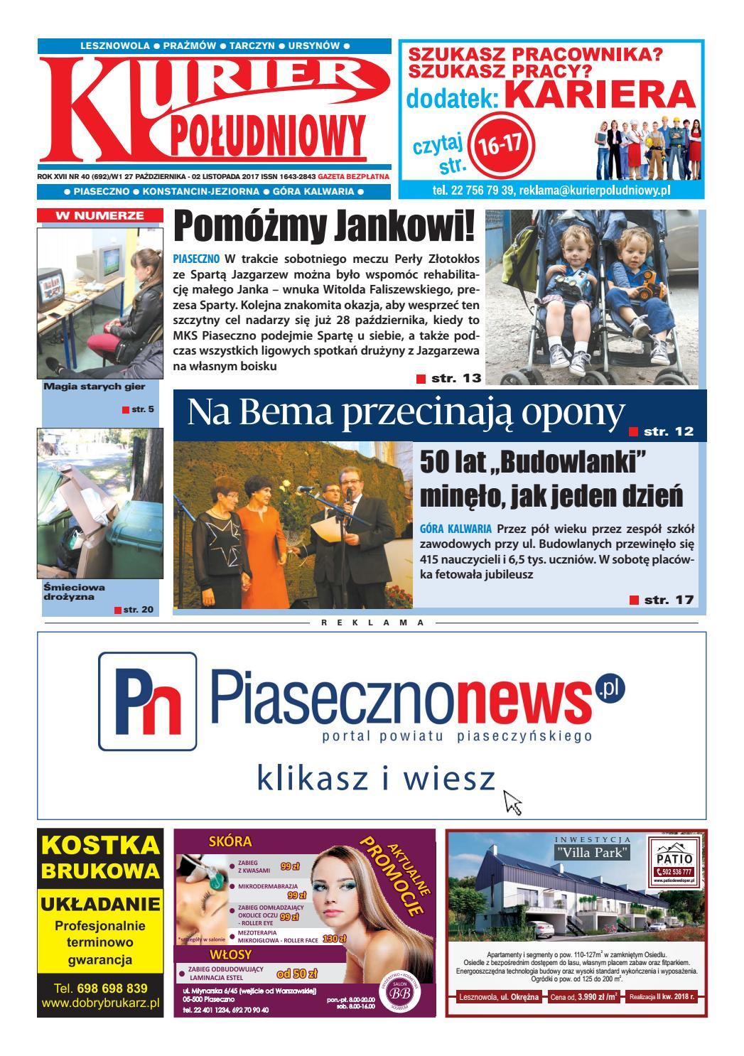 Kurier Południowy 40692 27102017 Wydanie Piaseczyńsko
