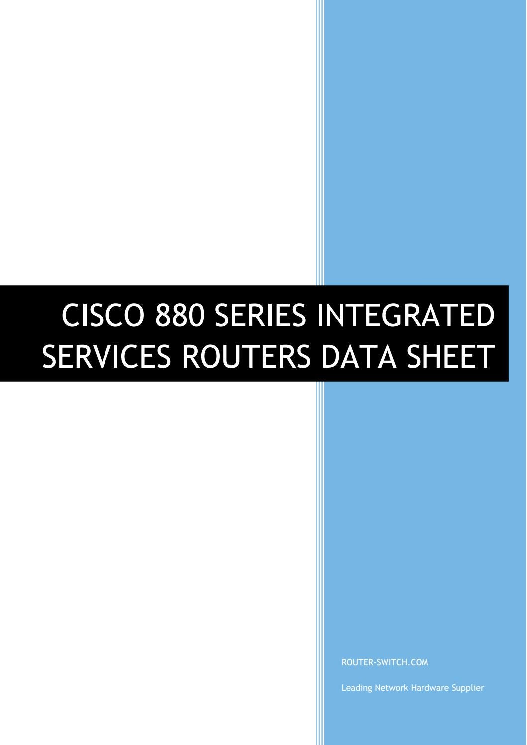 Cisco 880 series integrated services routers data sheet by
