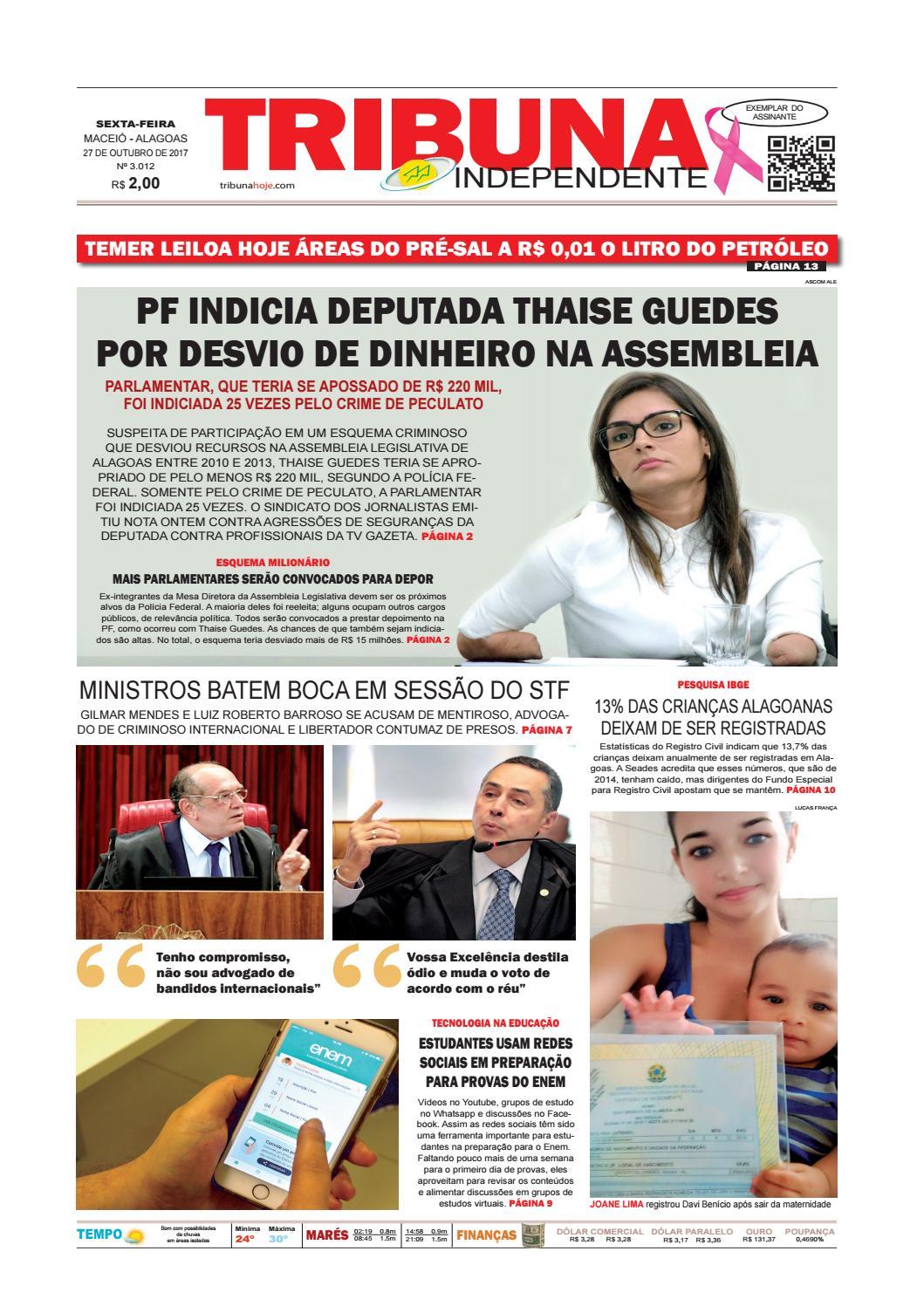 d74ec448ac Edição número 3012 - 27 de outubro de 2017 by Tribuna Hoje - issuu