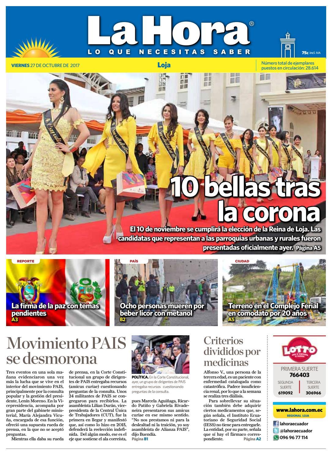 Diario La Hora Loja 17 De Mayo 2017 By Diario La Hora Ecuador Issuu # Muebles Moya Loja