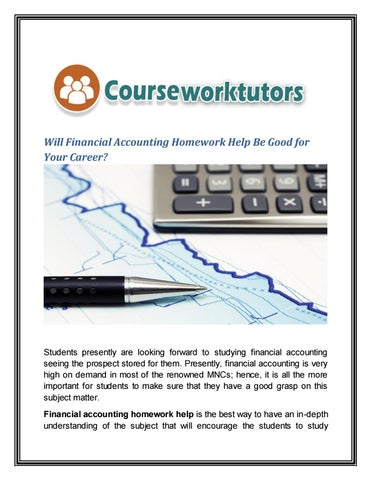 financial accounting homework help