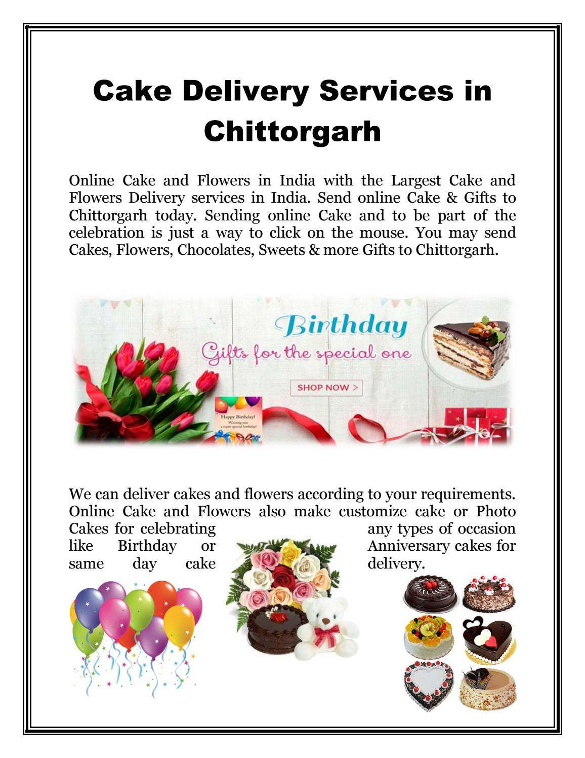 Cake Delivery Services In Chittorgarh By Onlinecakeandflowers Issuu