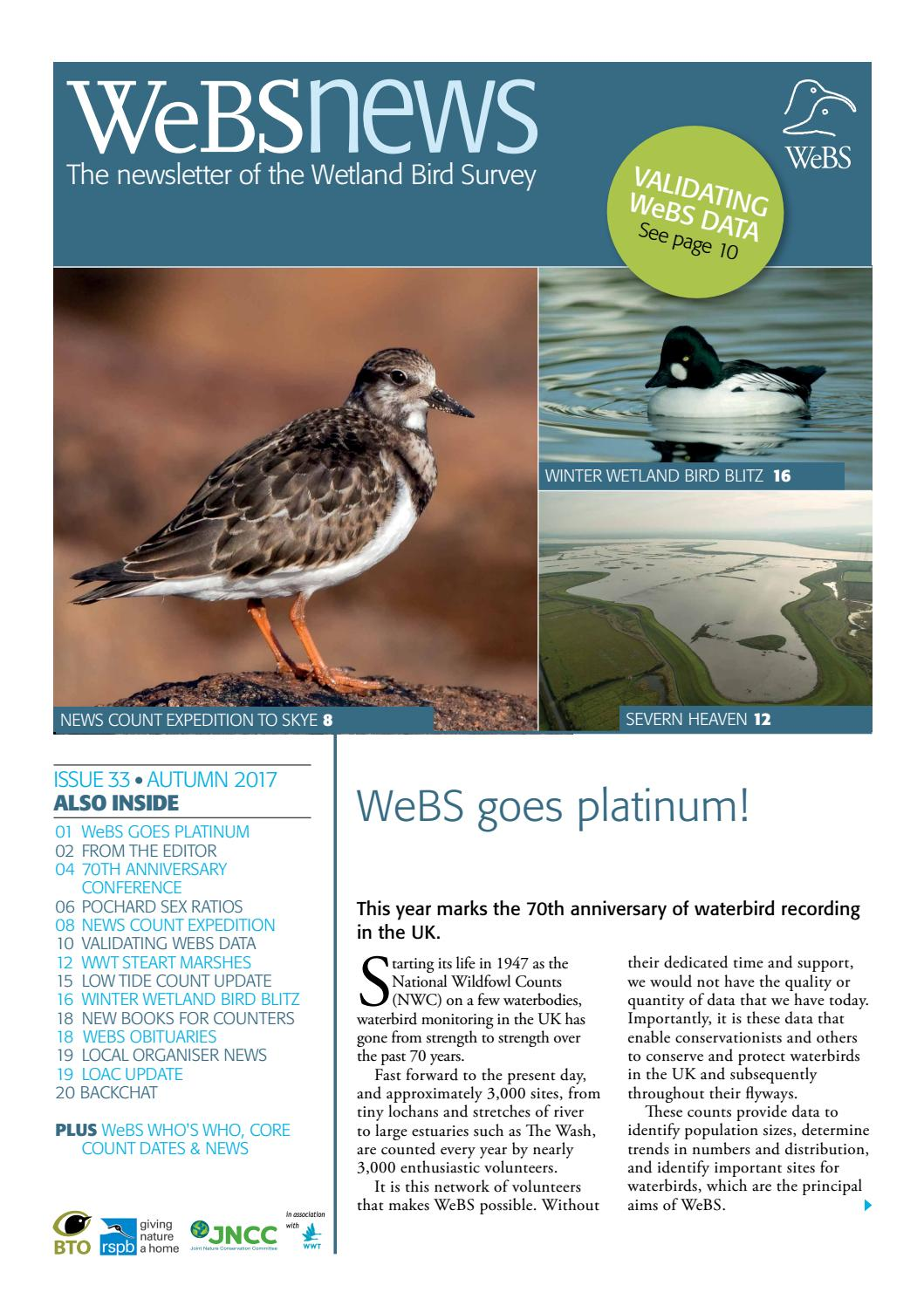 WeBS news issue 33 - Autumn 2017 by British Trust for