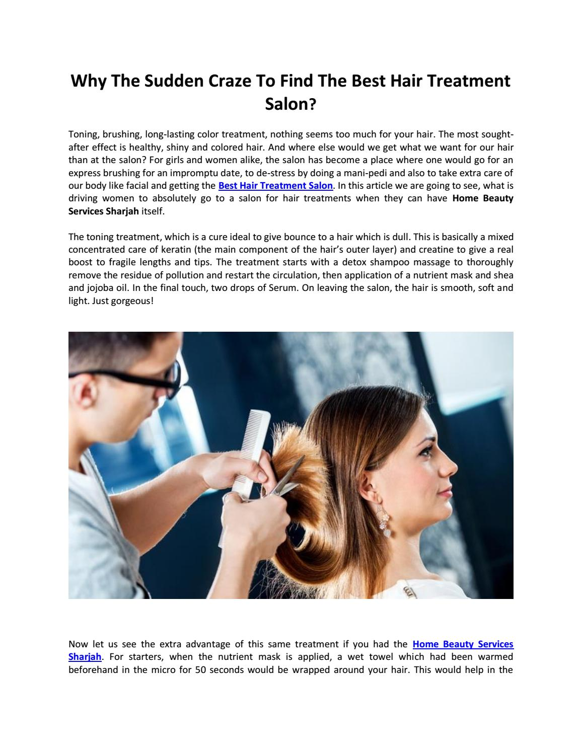 Why the sudden craze to find the best hair treatment salon
