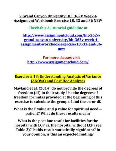 exercise 36 hlt 362v Hlt 362v exercise 11 questions to be graded $1200 add to cart  placeholder  hlt 362v module 4 exercise 36 $1200 add to cart placeholder .