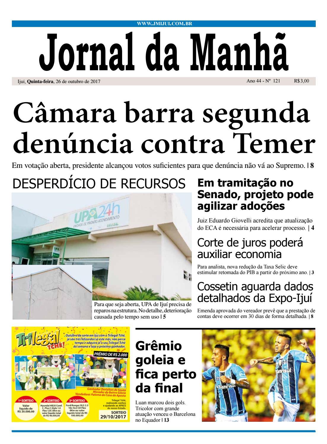 eb81fce7176 Jornal da Manhã - Quinta-feira - 26-10-17 by clicjm - issuu