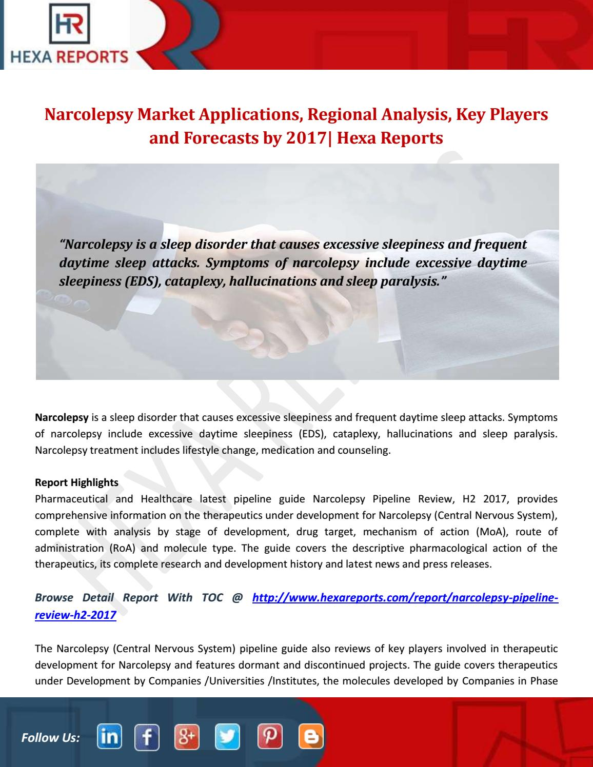 Narcolepsy market applications, regional analysis, key
