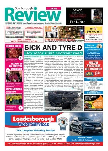 Scarborough review november 2017 by your local link ltd issuu page 1 solutioingenieria Choice Image