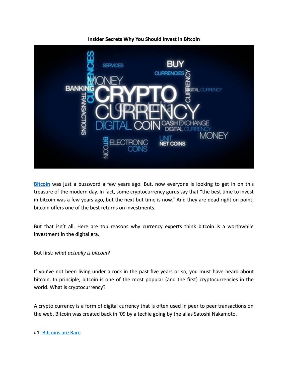 cryptocurrency insider secrets