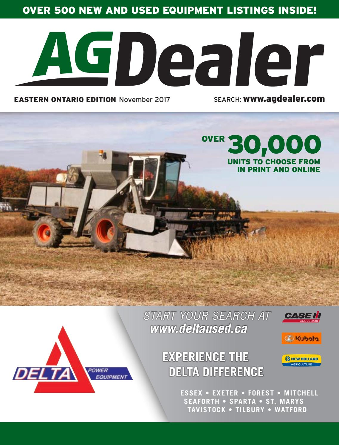 AGDealer Eastern Ontario Edition, October 30, 2017 by Farm