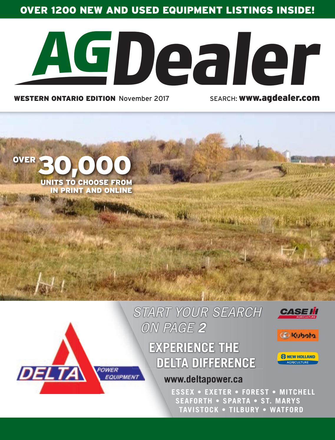 AGDealer Western Ontario Edition, October 30, 2017 by Farm Business  Communications - issuu
