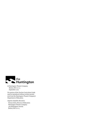 The 39 Steps Curriculum Guide By Huntington Theatre Company Issuu