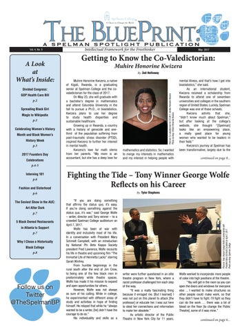 Vol 4 no 5 by the blueprint a spelman spotlight publication issuu the blueprint malvernweather Image collections