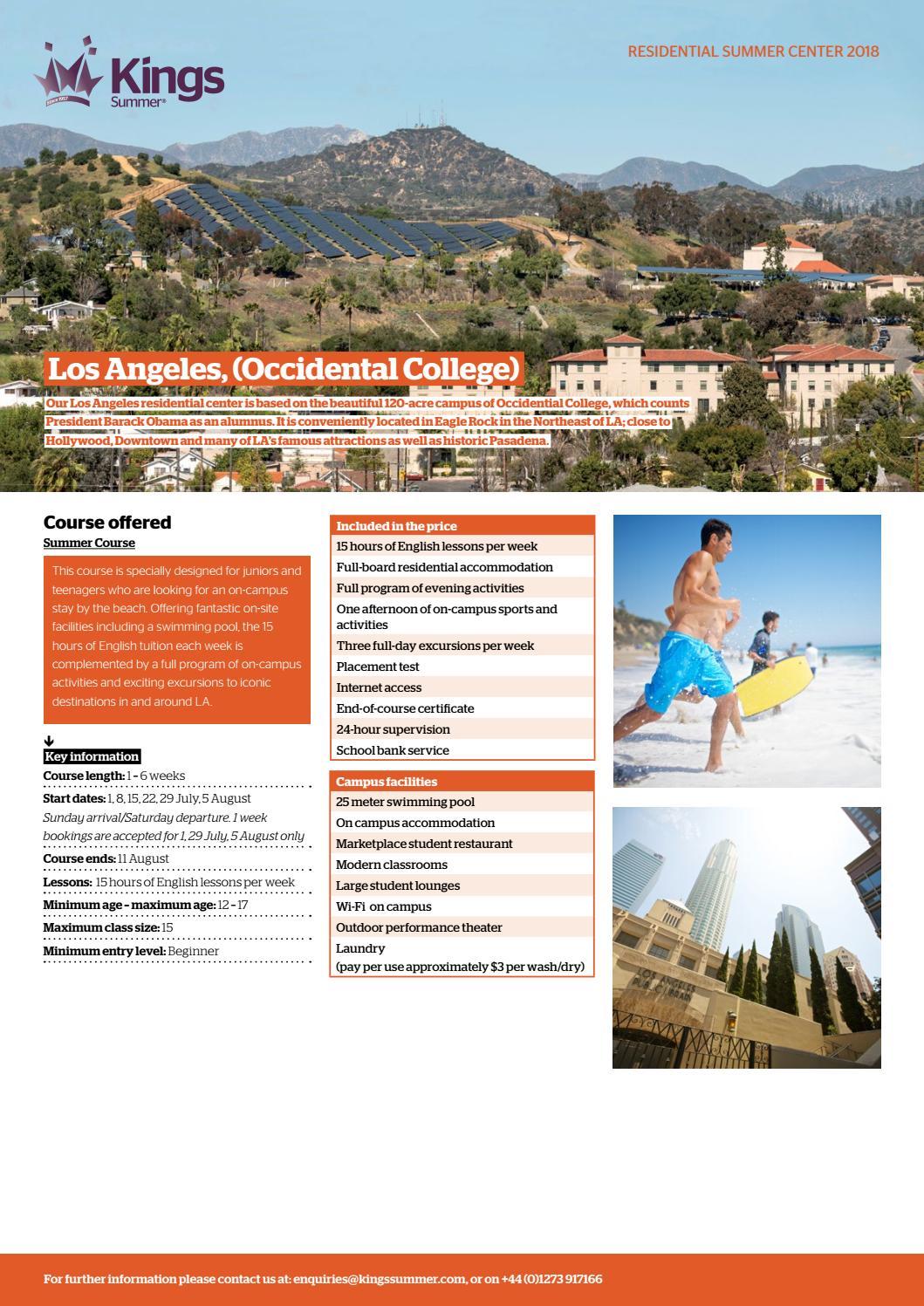 Kings Summer Los Angeles (Occidental) by Kings Education - issuu