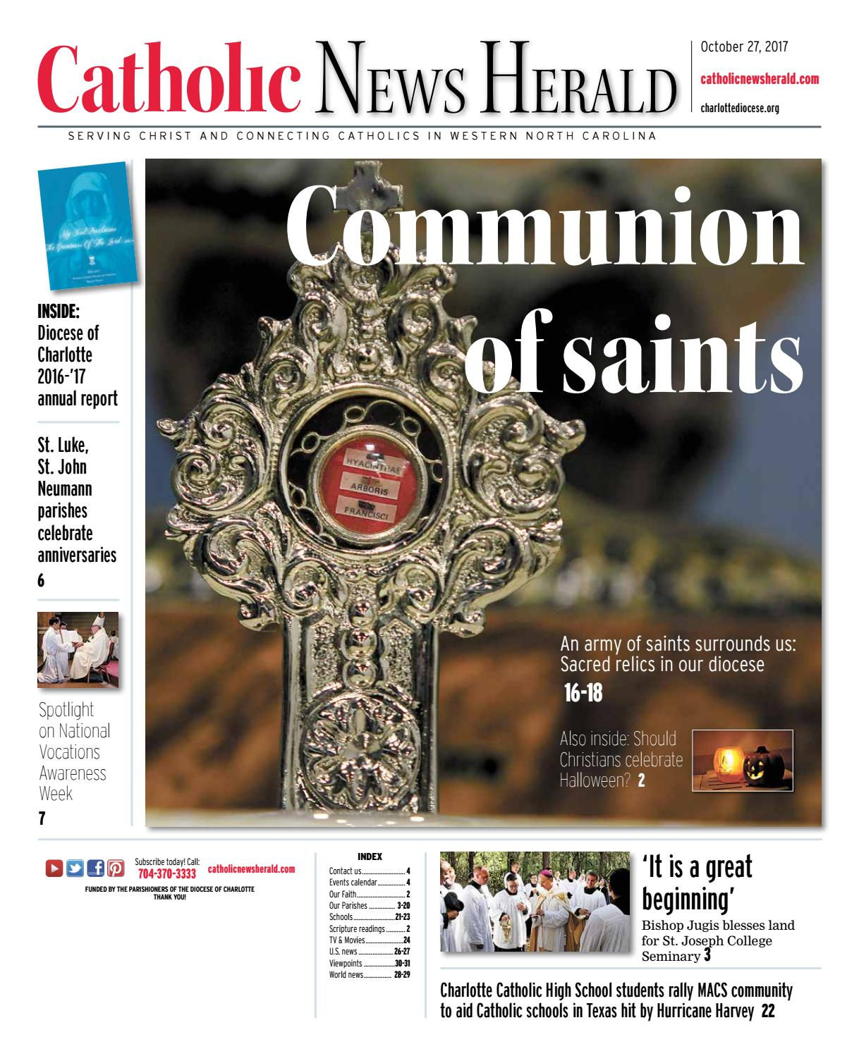Oct. 27, 2017 by Catholic News Herald - issuu